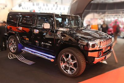 hummer h2 carshow